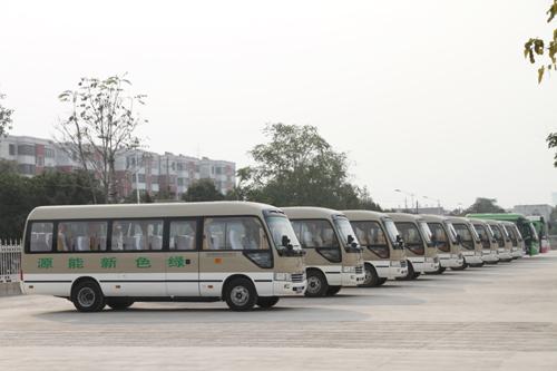海奥通纯电动公交车即将投入运营