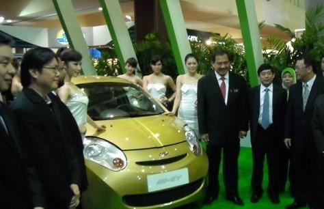 奇瑞电动车亮相吉隆坡国际车展受关注