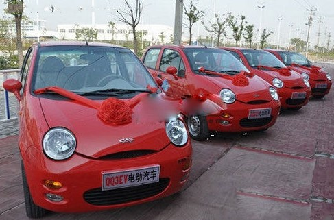奇瑞QQ3EV领跑新能源小车市场高清图片
