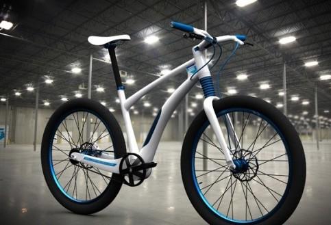 轻便的概念电动自行车