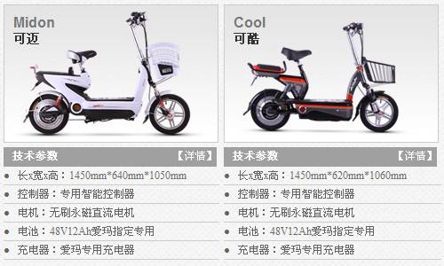 爱玛电动车2012款 可迈VS可酷,你更喜欢哪一款_中国电动车网站资讯频道