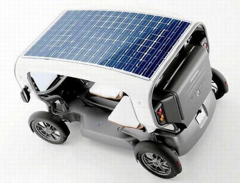 有阳光就能跑 节能又环保的太阳能电动车
