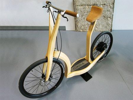 竹制电动自行车