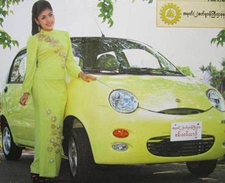 """奇瑞qq3在缅甸变身""""缅甸mini""""国民车"""