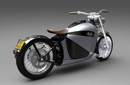 复古时尚电动摩托车荷兰产