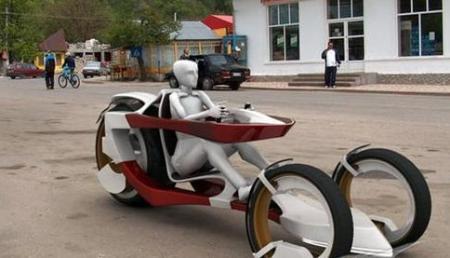 科技感十足的未来电动三轮车
