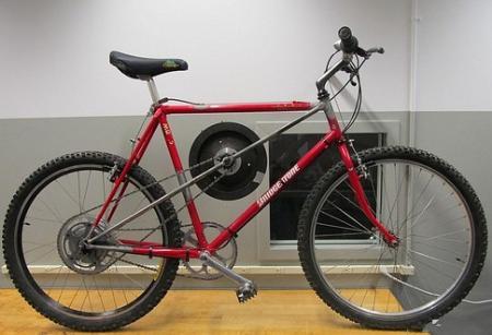 给自行车装上飞轮