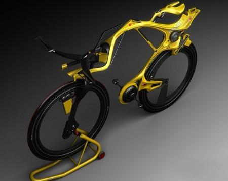 三项全能混合动力概念炫酷自行车