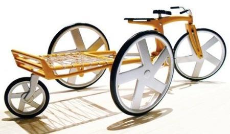 改良升级款竹制自行车Greencycle