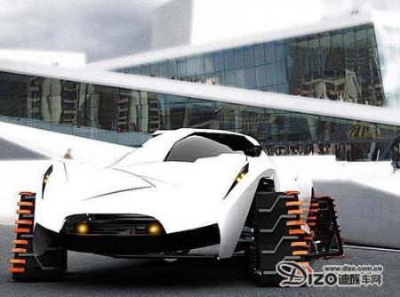 极具创新概念 适于冰雪天地的全电动车
