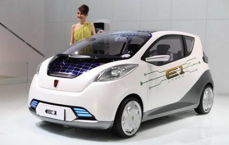 上汽荣威E1电动汽车将亮相北京车展高清图片