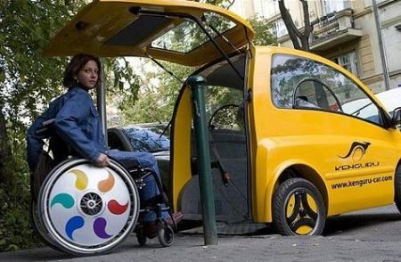 kenguru小型四轮电动车 专为残疾人设计
