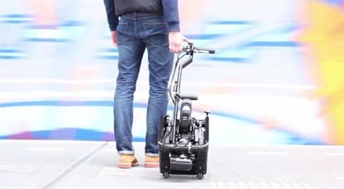 世界上最小的可折叠电动三轮车