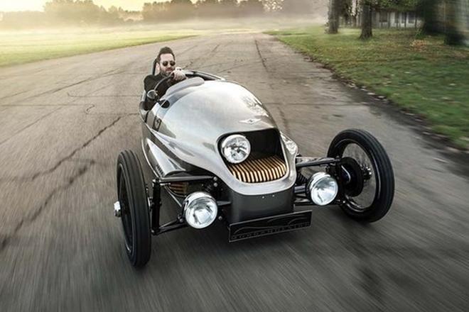 英国摩根汽车发布一台三轮电动跑车