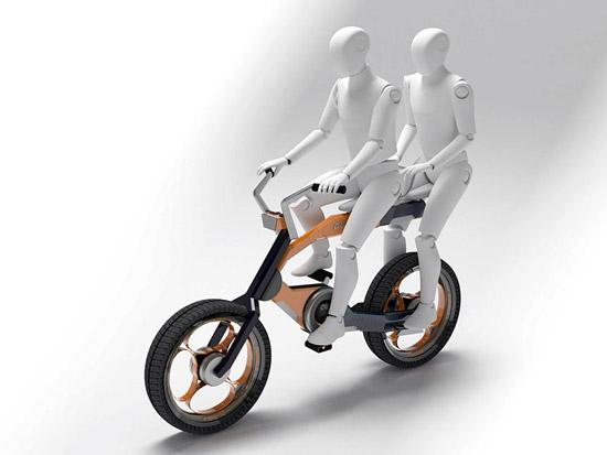 逆袭:设计大师打造双人电动车自行车