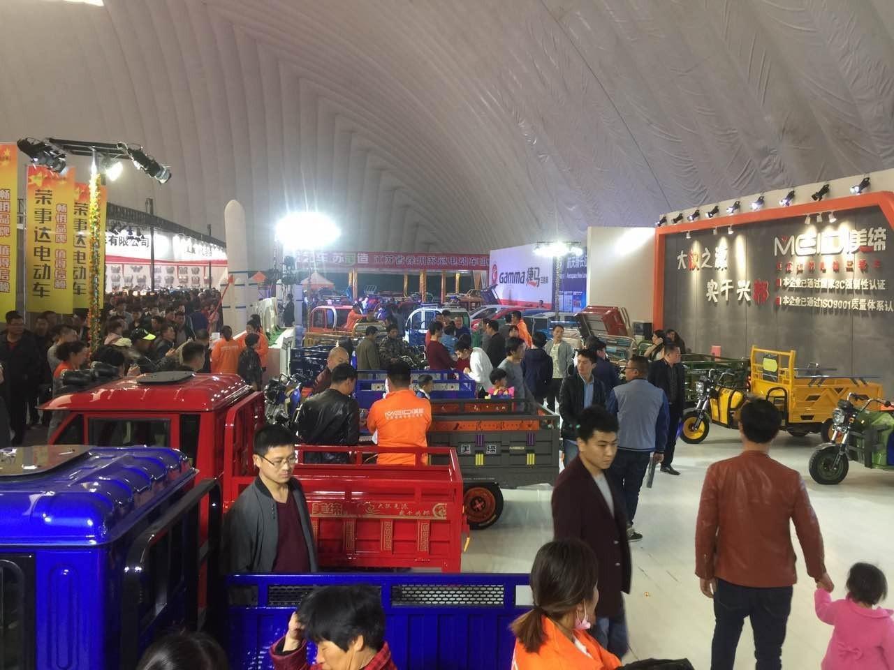 电动三轮车首日众筹突破6000台,丰县展哪个品牌这么火?