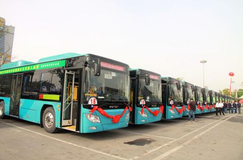 30辆福田欧辉BJ6105气电混合动力公交车交付湖北荆州