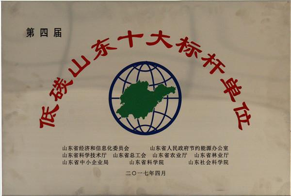 """时风集团被授予""""低碳山东十大标杆单位"""""""