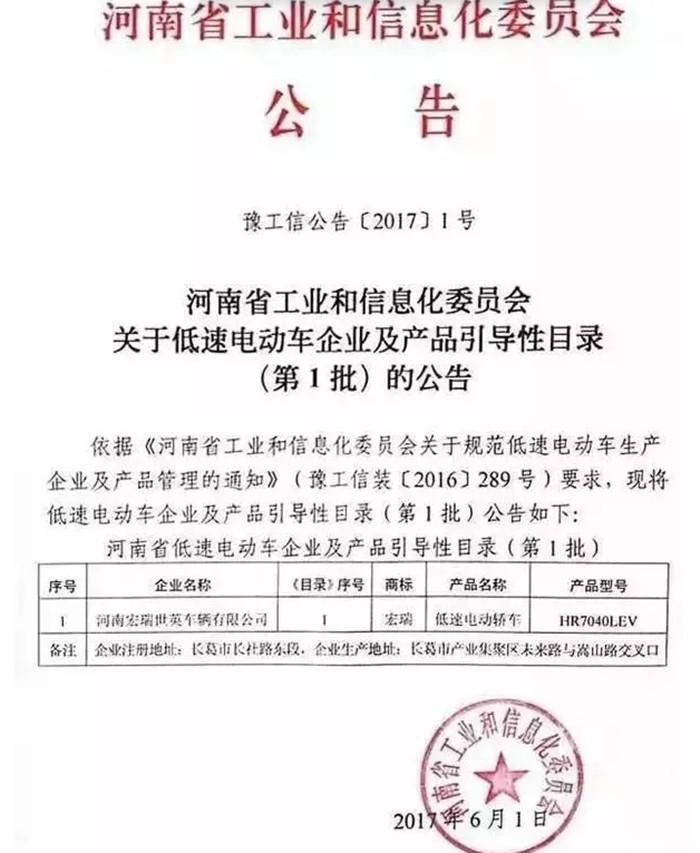 国家终于给低速电动车合法身份证了!