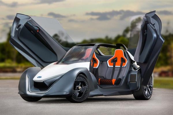 座敞篷鸥翼门 日产电动概念车BladeGlider帅到没朋友