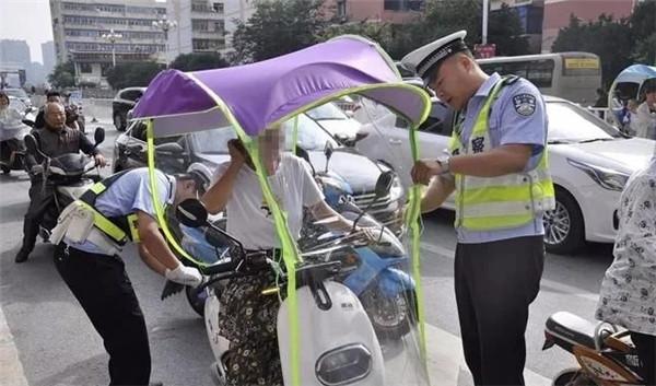 """助推""""夏安"""" 江西开展电动车非法加装遮阳伞整治行动"""