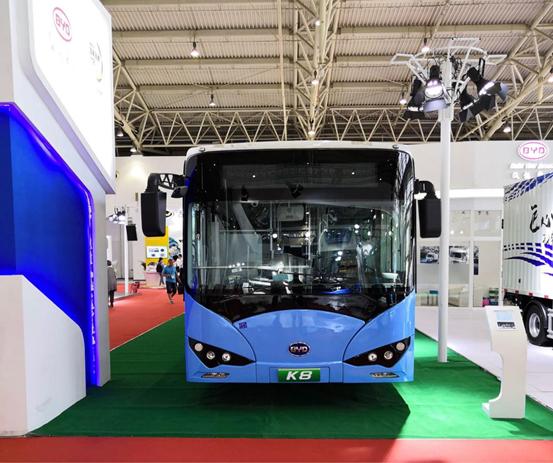 比亚迪纯电动商用车亮相国际电动车技术展