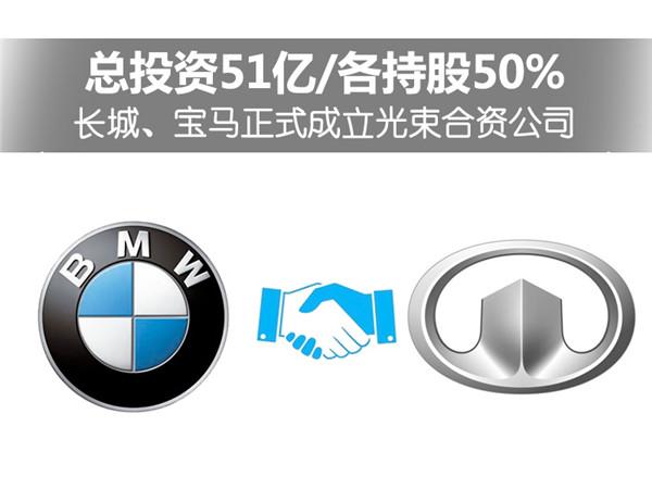"""宝马/长城合资成立""""光束汽车"""" 生产MINI电动车"""