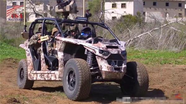 搭载轮毂电机 美国纯电动军用车曝光