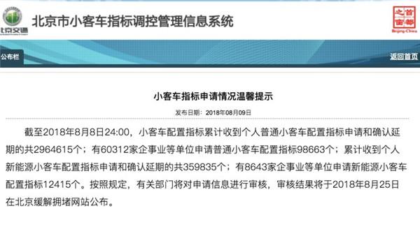 近36万人抢北京新能源车指标 新人等7年