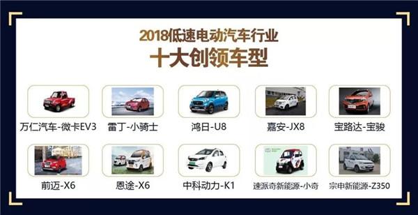 年度大盘点:2018低速电动汽车行业十大创领车型荣耀上榜!
