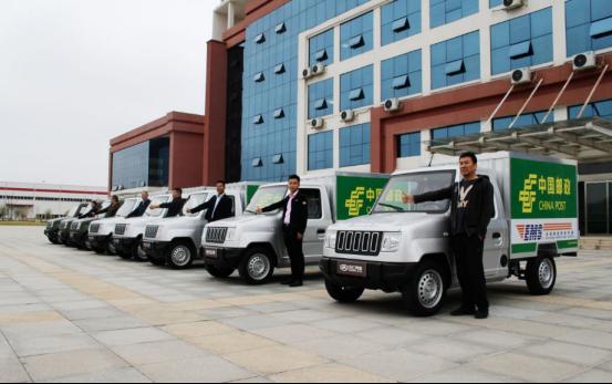 祝賀!中國郵政首批萬仁科達電動物流車集中交付