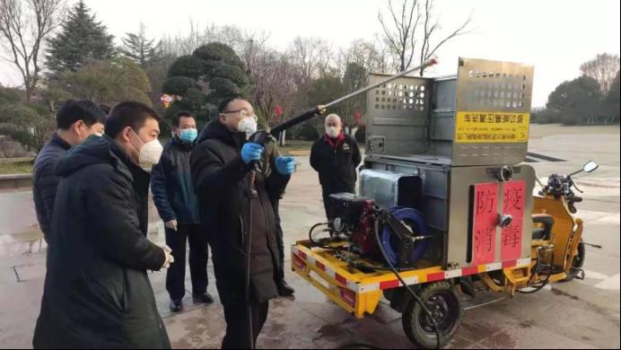 助力攻坚防疫战!金彭集团易尔科技捐赠清洁消毒车用于疫情防控