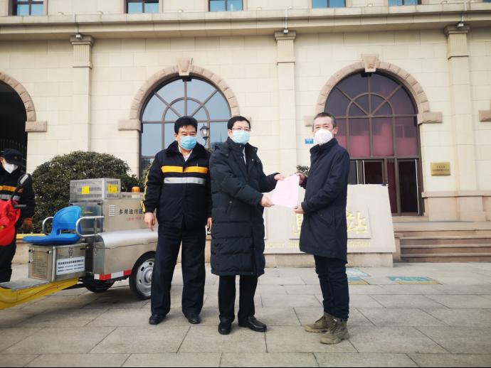 """海諾電動車捐贈防疫消毒車,傳遞抗""""疫""""正能量"""