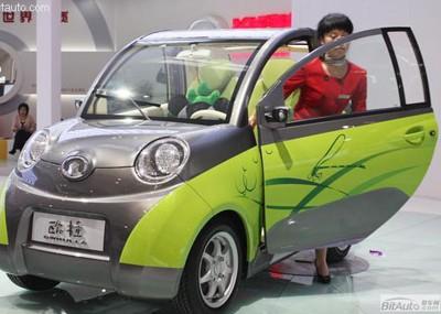 长城汽车在上海车展上推出了电动车欧拉高清图片