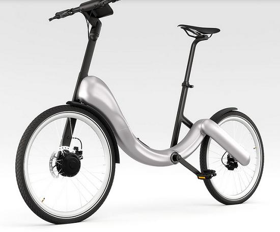 折叠 电动 jivebike自行车与手机并轨