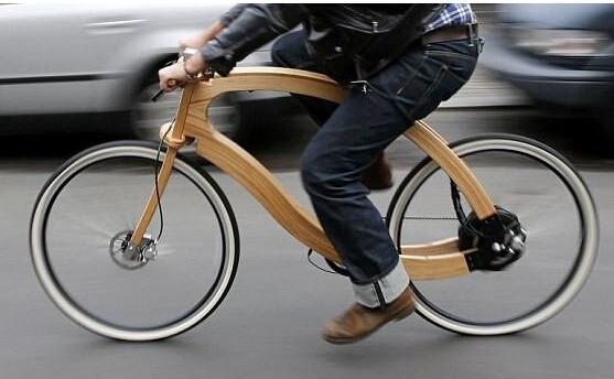 德国设计师发明木质电動自行车